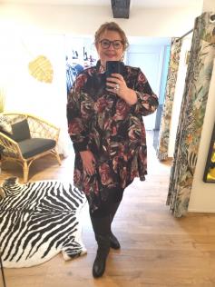 Longue chemise fleurie