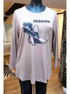 Tee-shirt beige Fashion