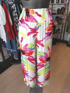 Pantalon large coloré